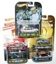 Hot Wheels Retro Set Ghostbusters Back to the Future BJ and The Bear 007 Batman