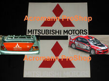 "2x 6"" 15.2cm Mitsubishi Motors decal sticker EVO X IV Mirage 3000GT Carisma Colt"