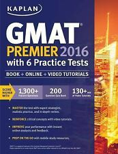 Test Prep: Kaplan GMAT Premier 2016 with 6 Practice Tests + DVD/Online/Mobile
