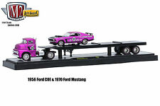 M2 MACHINES 1:64 AUTO-HAULERS WAVE 36000 20B 1956 FORD COE & 1970 FORD MUSTANG