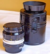 Nikon Nikkor-O Auto 1:2 35mm Lens, NICE CONDITION! HN-3 Hood & Case