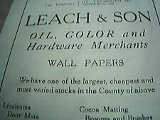 book cutting advert norwich 1929 leach sons oil colour hardware wall papers gt y