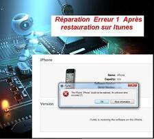 Réparation erreur 1 sur itunes   iphone 4S