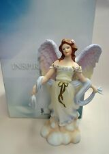 "ANGEL FIGURINE ""ANGEL OF THE WIND""  HAND-DECORATED, BY MARURI, USA, NEW IN BOX,"