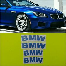 BMW Brake Caliper HIGT TEMPERATURE Decal Sticker Set of 4 (Blue)