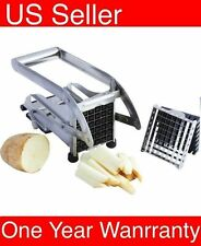 Stainless Steel Potato French Fry Cutter Vegetable Slicer Chopper Dicer 2Blades