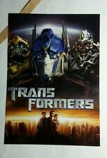 TRANSFORMERS PHOTO MOVIE 5x7 FLYER MINI POSTER (NOT A movie )