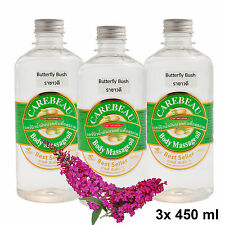 3x Flaschen 450ml CAREBEAU Massageöl Thaimassageöl Rachawadee (Butterfly Bush)