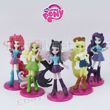 5pcs My Little Pony Equestria Girls Applejack/Fluttershy/Rarity 6cm PVC Figure