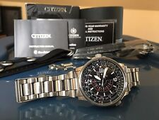 Citizen Nighthawk BJ7000-52E Eco-Drive Pilot Watch and Two NATO Straps