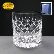 Personalised Whisky Cut Glass Birthday Gift 53rd 54th 55th 56th 57th 58th 59th