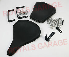 FRONT & REAR / PILLION SPRING SEAT HARLEY STYLE FOR ROYAL BIKES ENFIELD CLASSIC