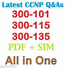 CISCO CCNP NEW EXAMS 300-101 300-115 & 300-135 Qs & As + VCE SIMULATOR FILE 2015