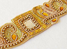 Hand-Beaded Trim with Mirrors. Ethnic, India Style