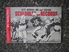 1971 Official NFL and College Schedules & Records by TSN with Jim Plunkett cover