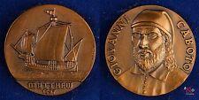 Medaille ca 1975 Matthew 1497, Giovanni Caboto - Hochrelief - 28,9g 40mm