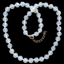 """Fashion Faceted Opal Opalite Round Beads Adjustable necklace 18"""""""