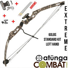 NEW EXTREME LEFT HAND 60LBS CAMO COMPOUND BOW AND ARROW ARCHERY HUNTING TARGET