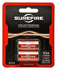 *NEW* 2 Pk SUREFIRE CR123A SF2-CB LITHIUM BATTERIES EXP. 06/2025 MADE IN USA