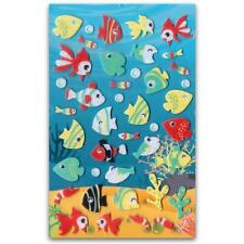 CUTE TROPICAL FISH FELT STICKERS Sheet Ocean Beach Kid Scrapbook Fuzzy Sticker