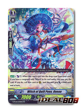 Cardfight Vanguard  x 4 Witch of Quill Pen, Oneon - G-FC02/030EN - RR Mint