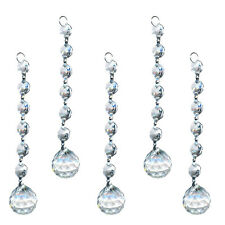 5 Clear Crystal Glass Chandelier Light Ball Prism Suncatcher Drops Pendant 20mm
