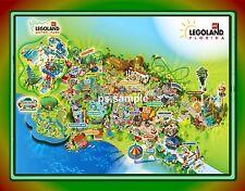 Florida - LEGOLAND park map MAGNET - Travel Souvenir Fridge Magnet
