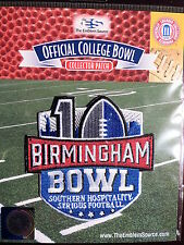 NCAA College Football Birmingham 10th Anniv Bowl Patch 2015/16 Auburn & Memphis