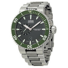 Oris Aquis Automatic Grey Dial Stainless Steel Mens Watch 743-7673-4137MB