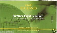 Airline Timetable - Etihad Airways - 27/03/11 (UAE) - S