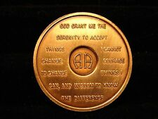 Alcoholics Anonymous 4 Year - Vintage AA BACK  Bronze Medallion Token-Coin   99