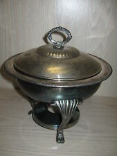 Kent Silver Smiths Co Casserole Chafing Dish W Silver Plate Insert And Lid