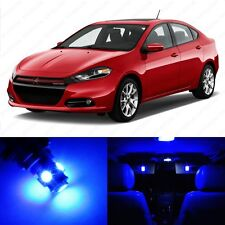 7 x Ultra Blue LED Interior Light Package For 2013 and Up Dodge Dart