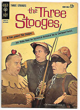 The Three Stooges #10 (Gold Key 1962 fn+ 6.5) worth $33 (£25.50) in this grade