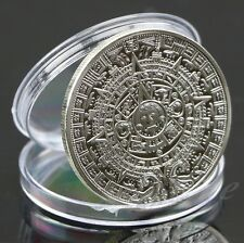 2012 Silver Plated Mayan Aztec Calendar Souvenir Commemorative Coin Collection