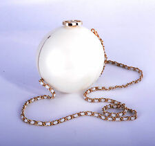 Ladies Fashion Small Cross Body Desinger Plastic Round Pearl Clutch Purses