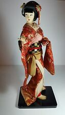 "BEAUTIFUL VINTAGE JAPANESE  KYUGETSU STYLE DOLL IN TRADITIONAL COSTUME 14"" TALL"