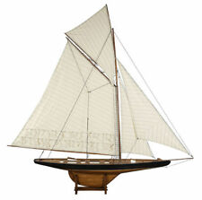 "America's Cup Columbia Sailboat 68"" Built XLarge Wooden Model Yacht Assembled"