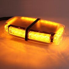 7 Flash Patterns 24 LED Car Strobe Light Amber Warning Magnetic Hazard Beacon
