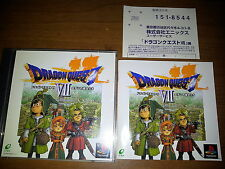 DRAGON QUEST VII  SONY PLAYSTATION PS JAP JAPANESE GAMES PSX PS1 A