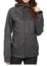 686 Authentic Bae Womens Insulated Snowboard Snow Ski Jacket Black Denim Medium