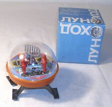 USSR SPACE BUGGY MOON WALKER TIN & PLASTIC WIND UP TOY BOXED WORKS