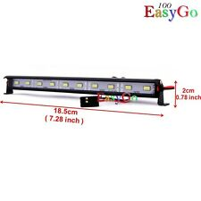 RC 1/10 Aluminum LED Light Bar 6V ~ 7.4V JR Plug Connect to Receiver or Battery