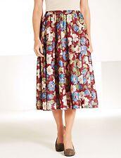 Amalina Full Circle Floral Skirt Size 16 BNWT Wine Uk Freepost