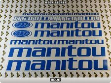 MANITOU Stickers Decals  Bicycles Bikes Cycles Frames Forks Mountain BMX 56LI