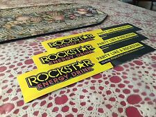 "3 New Rockstar Energy Drink 14""x3"" Bumper Stickers / Decals / Signs -- Rare"