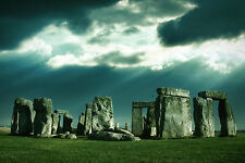 Framed Print - The Majestic Ancient Site of Stonehenge (Picture Poster History)