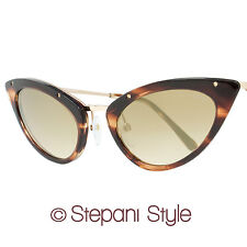Tom Ford Cateye Sunglasses TF349 Grace 47G Brown Melange 349