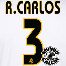 ROBERTO CARLOS #3 REAL MADRID NUMERO HOME KIT NAME SET PRINTING 2003-2005