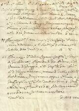 Preggio Umbertide Documento Seicentesco di Vendita di Terreni 1690 c.a